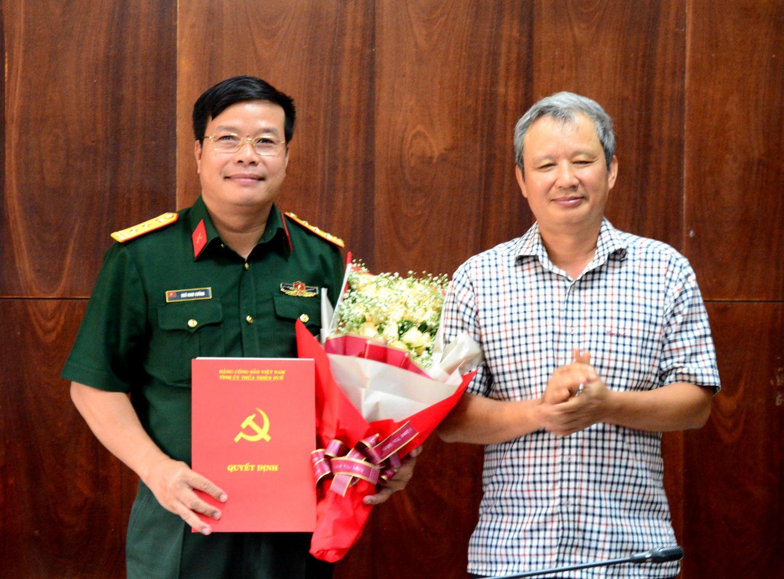 Kiện toàn nhân sự Ban Thường vụ Tỉnh ủy Thừa Thiên Huế