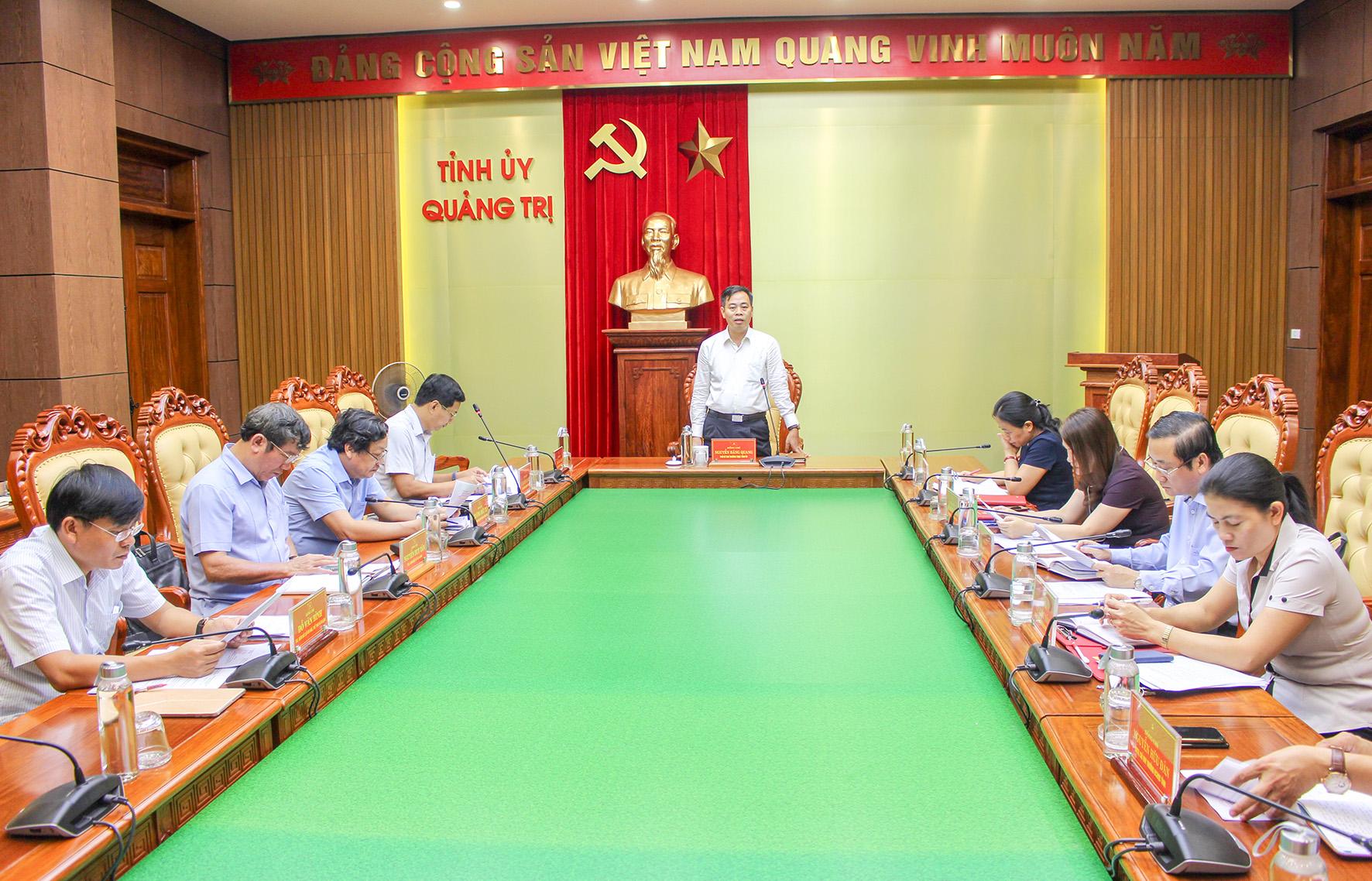 Quảng Trị tích cực chuẩn bị Đại hội Đảng bộ tỉnh lần thứ XVII