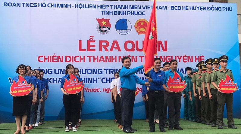 Bình Phước Ra quân chiến dịch Thanh niên tình nguyện hè năm 2020