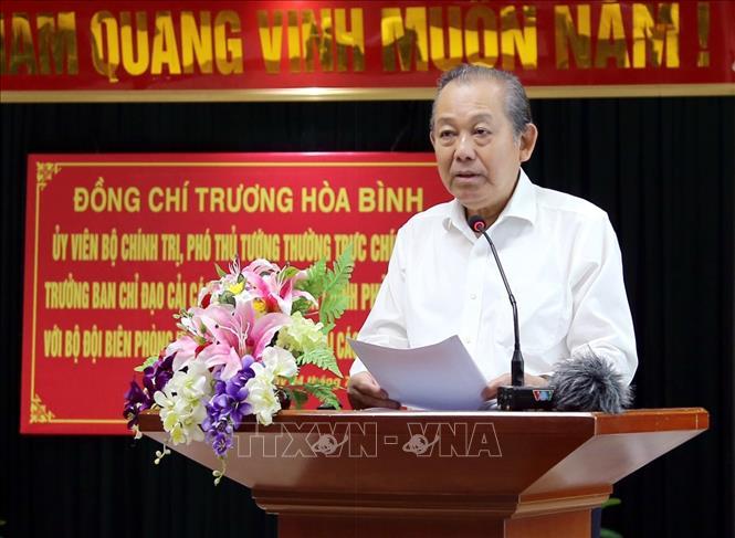 Phó Thủ tướng Trương Hòa Bình làm việc với TP Hải Phòng và BTL Bộ đội Biên phòng