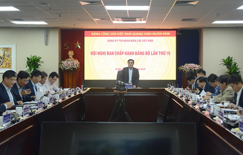 Hội nghị Ban Chấp hành Đảng bộ EVN lần thứ 19