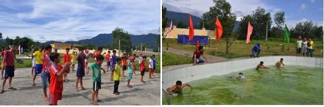 Lớp học bơi miễn phí nơi thung lũng A So