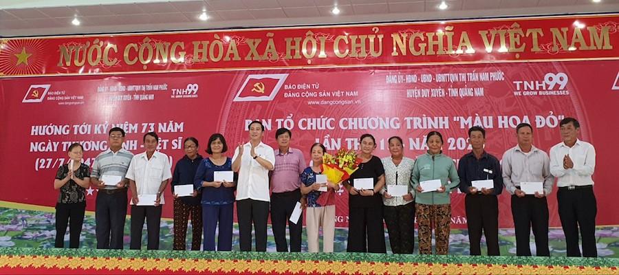 Chương trình Màu hoa đỏ trao tặng nhà, quà tình nghĩa Đà Nẵng và Quảng Nam