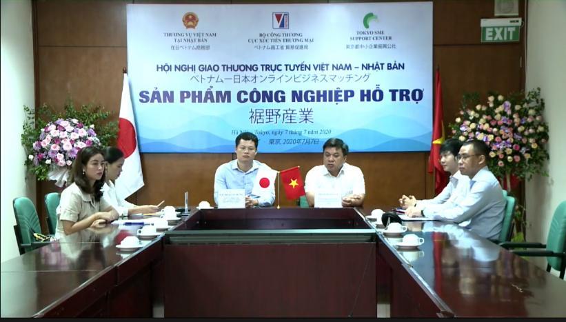Giao thương trực tuyến sản phẩm công nghiệp hỗ trợ Việt Nam – Nhật Bản