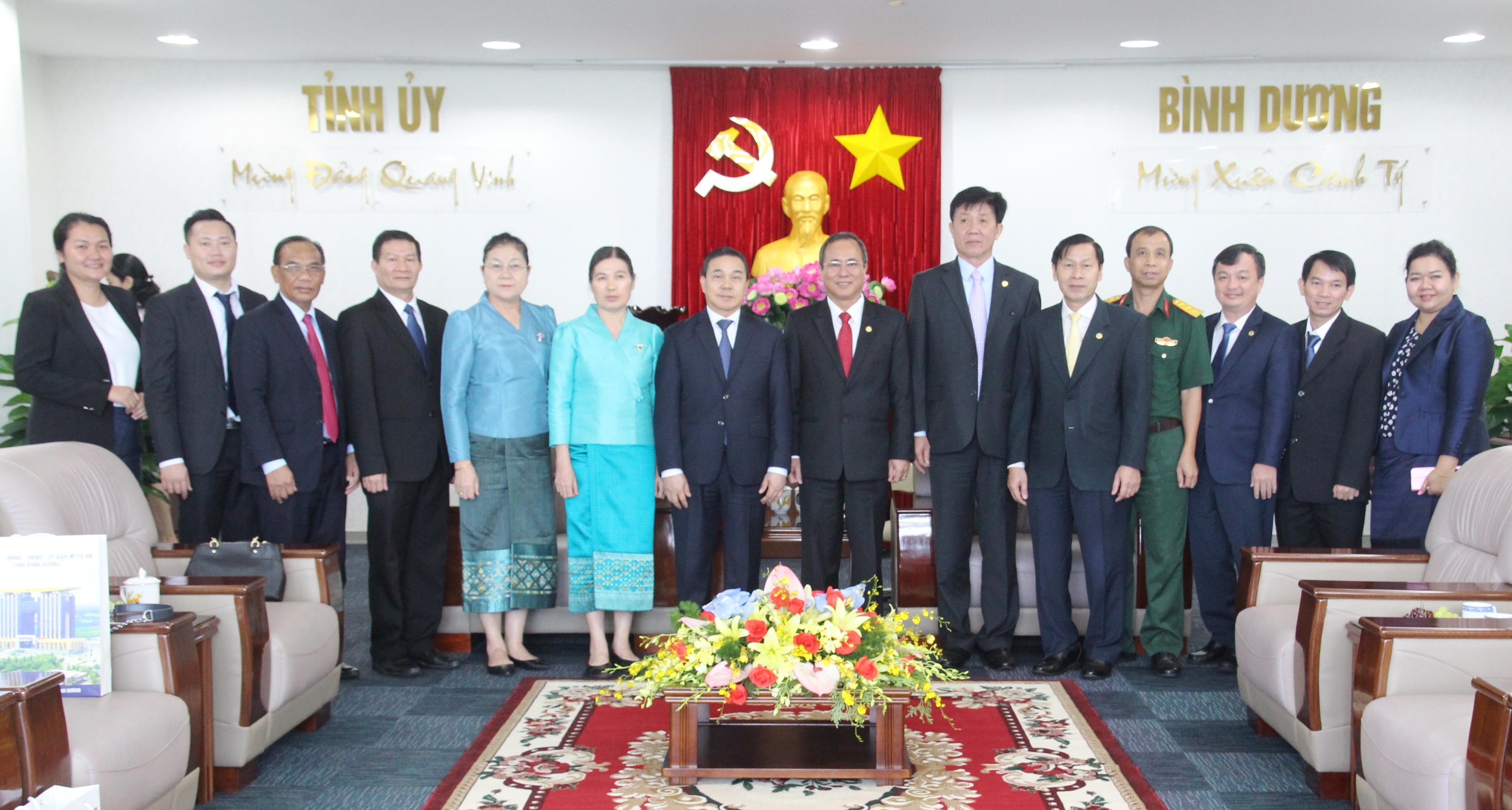 Bình Dương tiếp tục hỗ trợ, hợp tác với các địa phương của Lào