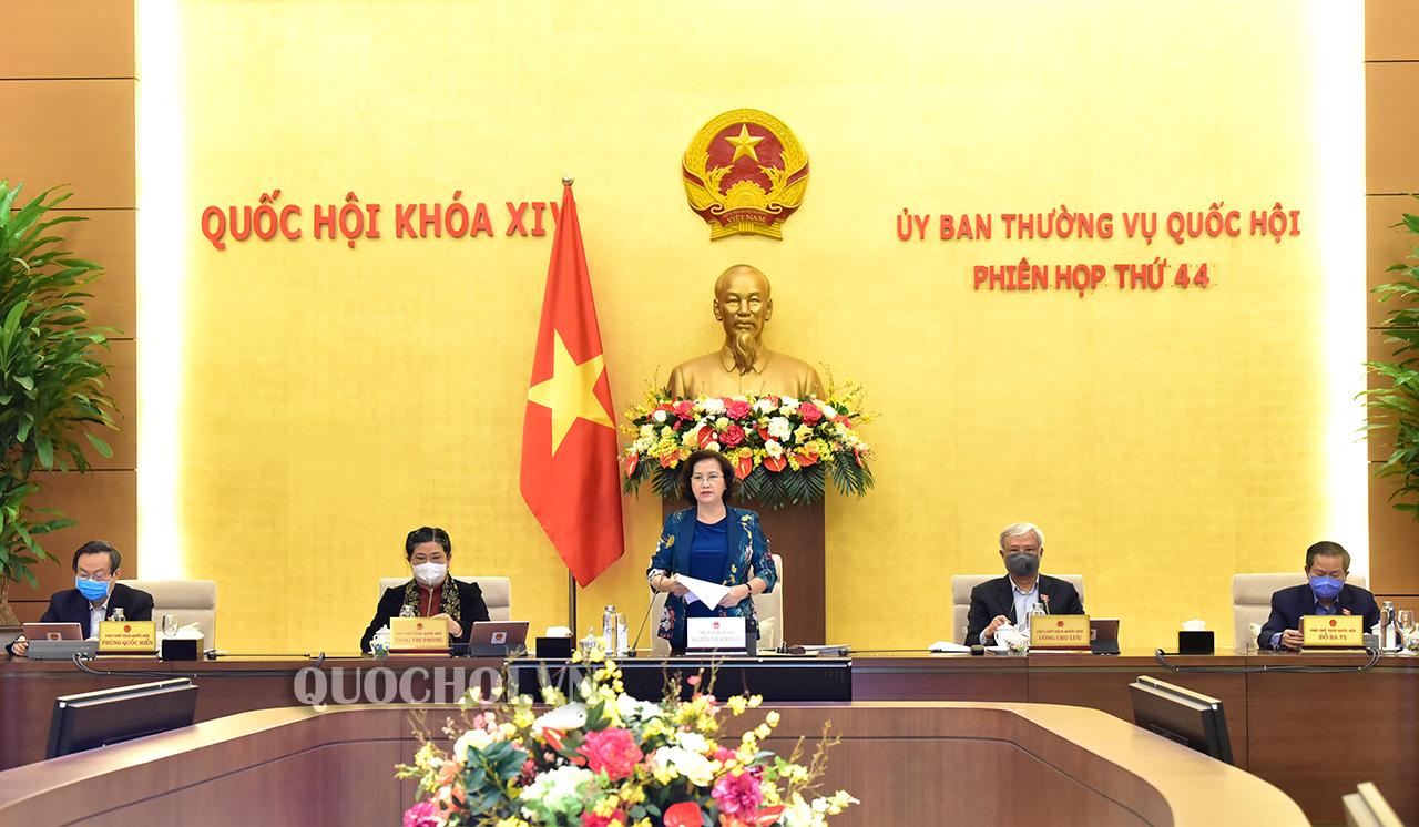 Dự kiến chương trình Phiên họp thứ 46 của Ủy ban Thường vụ Quốc hội