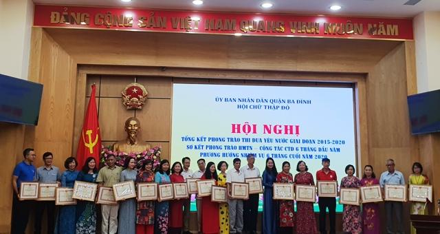 Hội Chữ Thập đỏ Ba Đình Tích cực thi đua trong phong trào nhân đạo, từ thiện