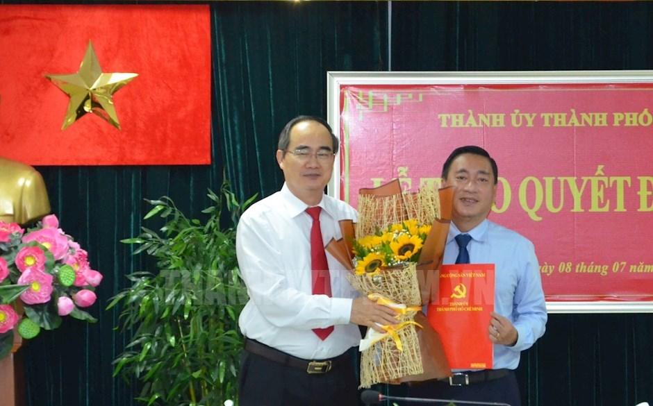 Đồng chí Phạm Thành Kiên giữ chức Bí thư Quận ủy quận 3