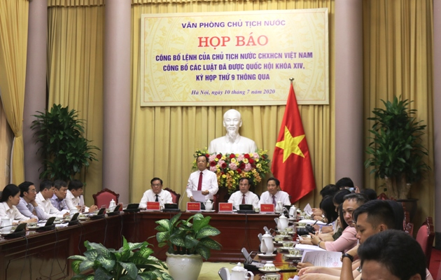 Công bố Lệnh của Chủ tịch nước về 10 luật