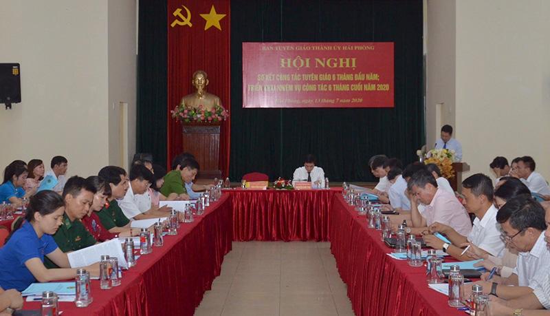 Ngành Tuyên giáo đóng góp quan trọng vào tăng trưởng kinh tế của thành phố Hải Phòng