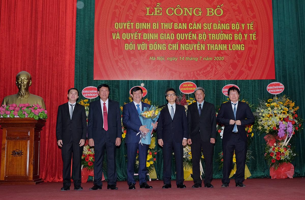 GS TS Nguyễn Thanh Long nhận nhiệm vụ Bí thư Ban Cán sự Đảng, Quyền Bộ trưởng Bộ Y tế