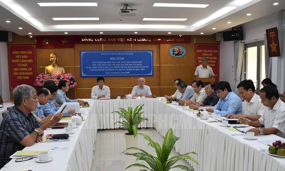 TP Hồ Chí Minh Cơ quan báo chí - xuất bản góp ý kiến vào dự thảo văn kiện Đại hội Đảng