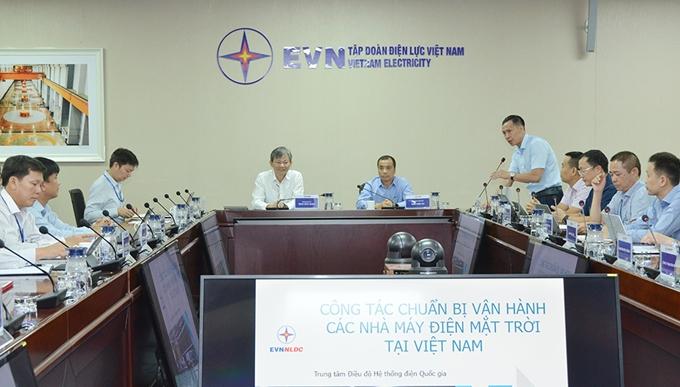 Tập đoàn Điện lực Việt Nam tổ chức Hội nghị công tác chuẩn bị vận hành các nhà máy điện mặt trời