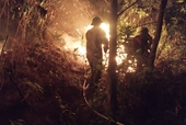 Trắng đêm, giúp dân chữa cháy rừng