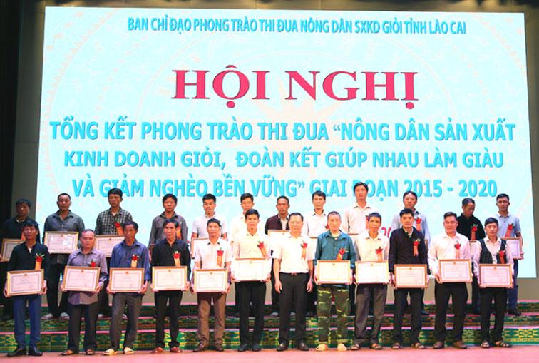 Lào Cai khen thưởng nông dân sản xuất, kinh doanh giỏi