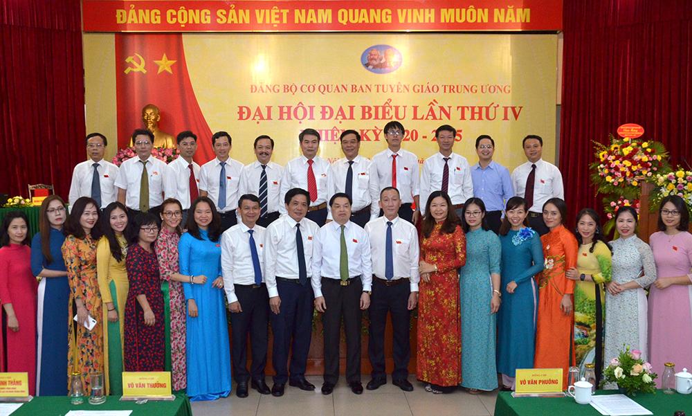 Đại hội Đảng bộ Cơ quan Ban Tuyên giáo Trung ương lần thứ IV