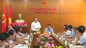 Phó Chủ tịch Quốc hội Phùng Quốc Hiển thăm, làm việc tại Lào Cai