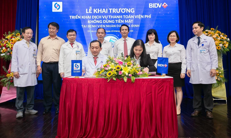 BIDV và Bệnh viện ND Gia Định triển khai dịch vụ thanh toán viện phí không dùng tiền mặt