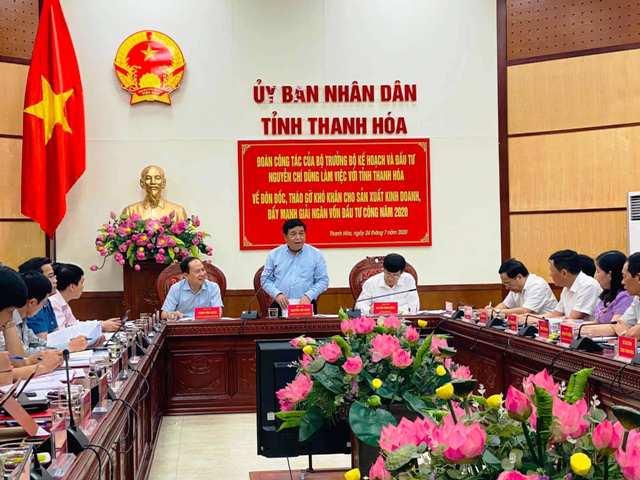 Đoàn công tác Bộ Kế hoạch và Đầu tư làm việc tại Thanh Hóa, Nghệ An