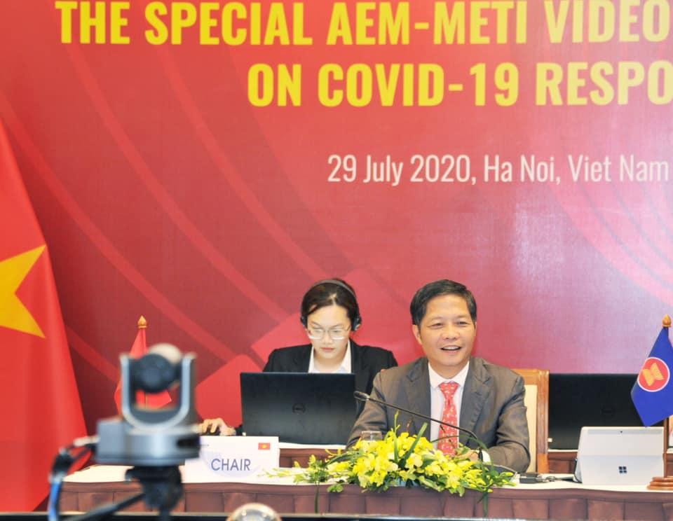 Hội nghị trực tuyến Bộ trưởng Kinh tế ASEAN - Nhật Bản
