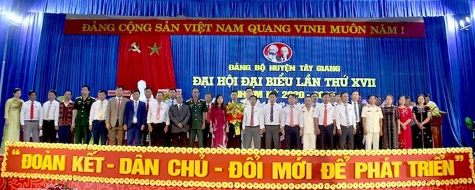 Đại hội Đảng bộ huyện Tây Giang tỉnh Quảng Nam lần thứ XVII