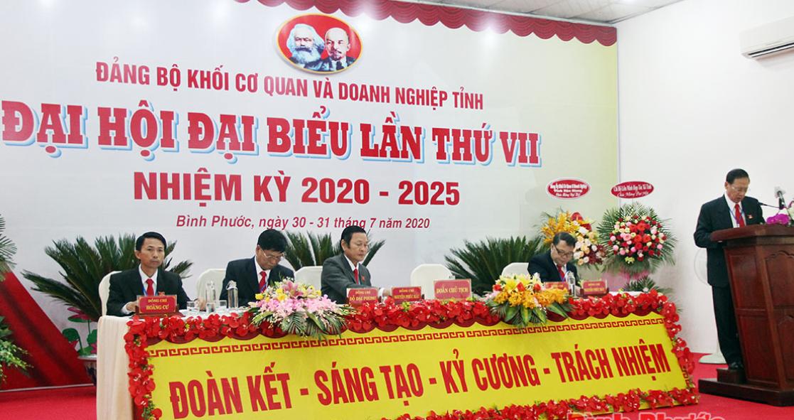 Bình Phước Nhiều đảng bộ tổ chức Đại hội nhiệm kỳ 2020 - 2025