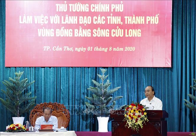 Thủ tướng làm việc với các địa phương Đồng bằng sông Cửu Long