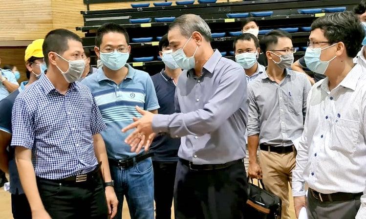 Bí thư Thành uỷ Đà Nẵng kiểm tra tiến độ xây dựng Bệnh viện dã chiến Tiên Sơn