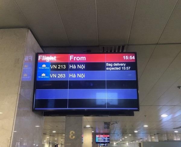 Vietnam Airlines triển khai hệ thống hiển thị thông tin tình trạng hành lý
