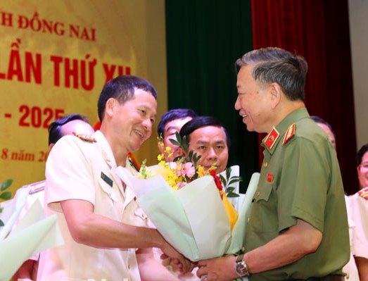 Đại tá Vũ Hồng Văn, Giám đốc Công an tái đắc cử Bí thư Đảng ủy Công an tỉnh Đồng Nai khóa XII