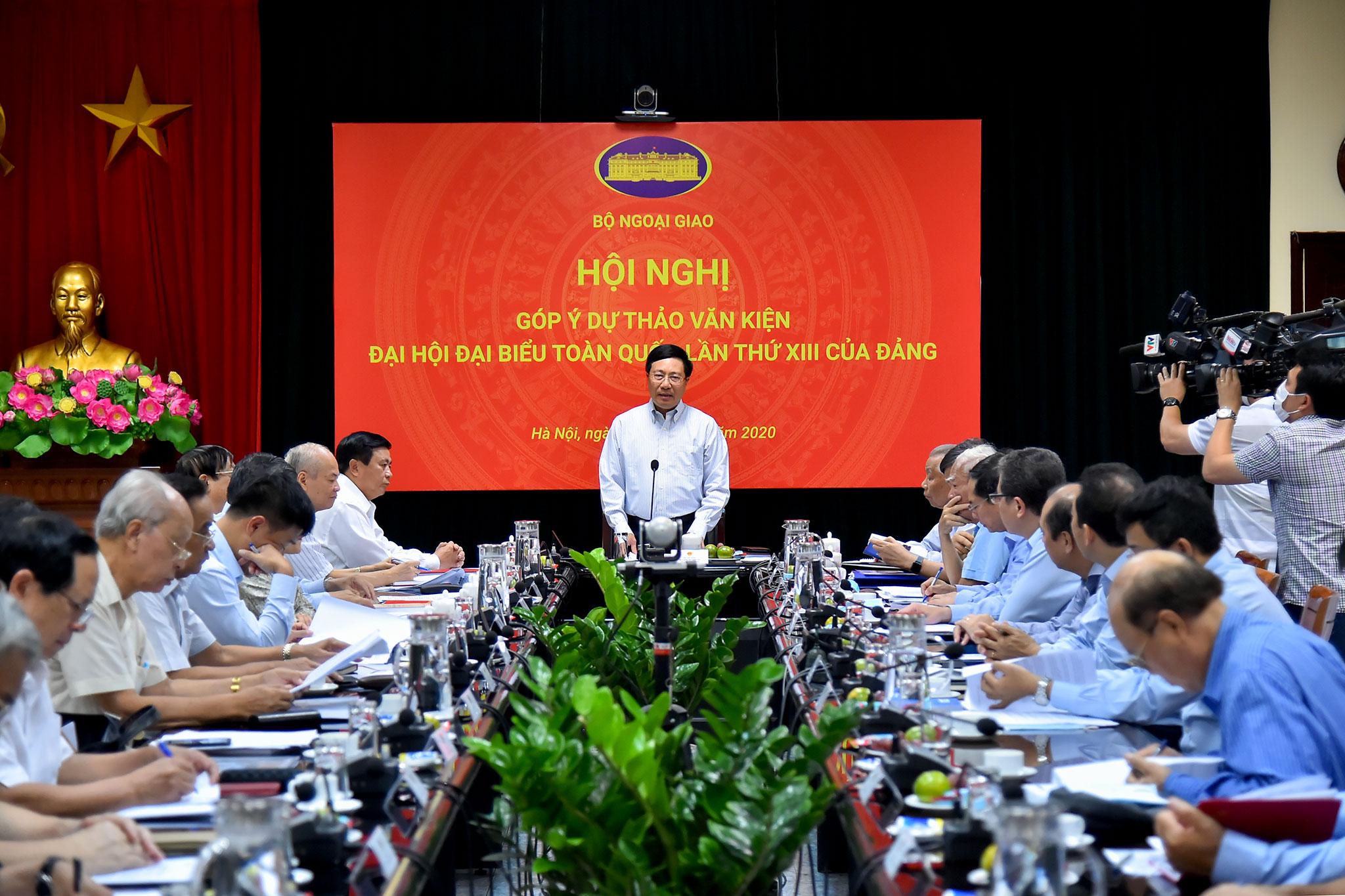 Bộ Ngoại giao góp ý dự thảo văn kiện Đại hội đại biểu toàn quốc lần thứ XIII của Đảng