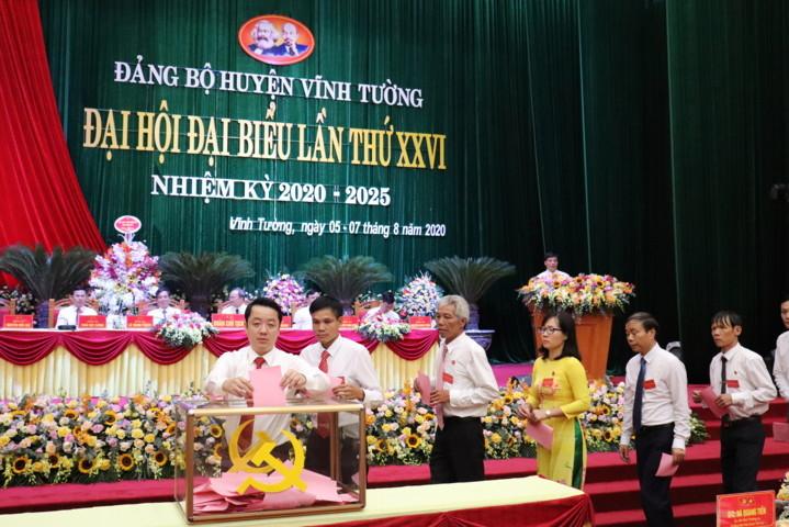 Tổ chức thành công Đại hội đại biểu Đảng bộ huyện Vĩnh Tường lần thứ XXVI