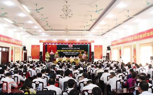 Đồng chí Bùi Thế Chung tái cử Bí thư Huyện ủy Yên Thế