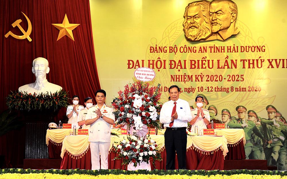 Đại tá Lê Ngọc Châu tái cử chức danh Bí thư Đảng ủy Công an tỉnh Hải Dương