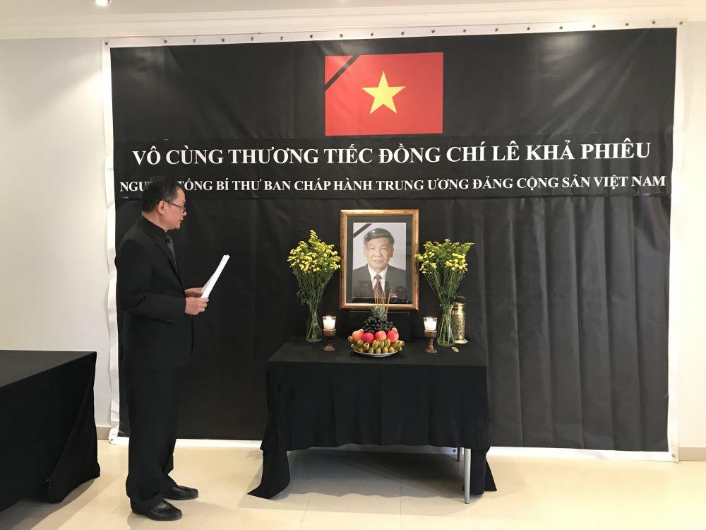 Đại sứ quán Việt Nam tại Qatar tổ chức trọng thể lễ viếng nguyên Tổng Bí thư Lê Khả Phiêu