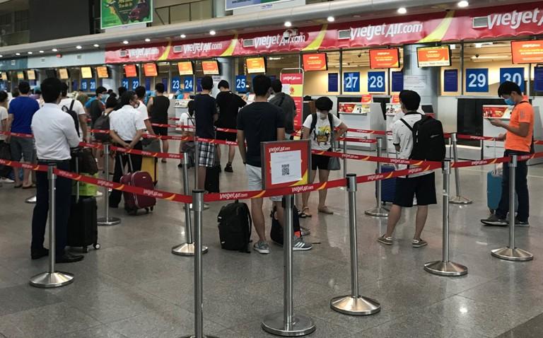 Từ tâm dịch Đà Nẵng, hơn 800 khách sẽ trở về nhà trên 4 chuyến bay Vietjet