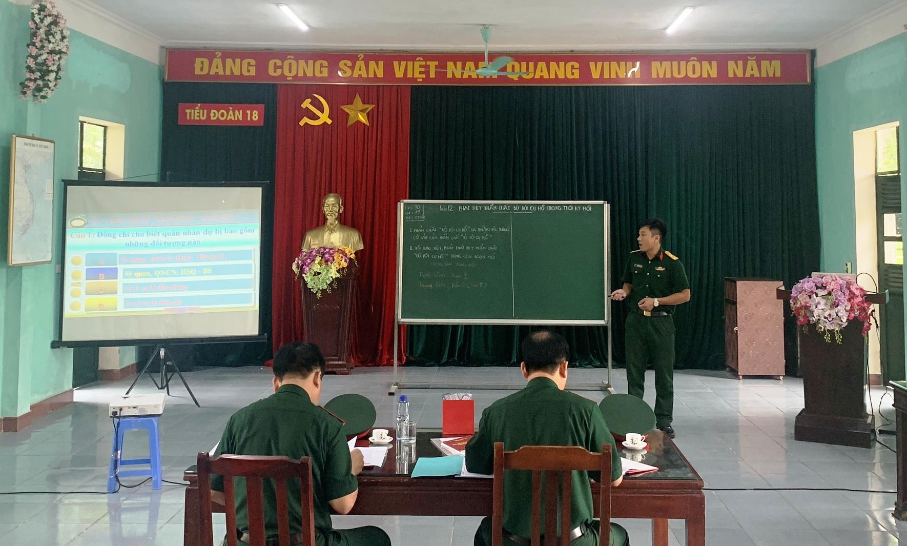 Sư đoàn 312 tổ chức Hội thi cán bộ giảng dạy chính trị và báo cáo viên giỏi