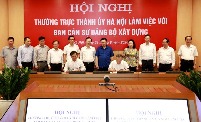 Phối hợp tháo gỡ khó khăn, vướng mắc trong xây dựng, quản lý và phát triển đô thị Hà Nội