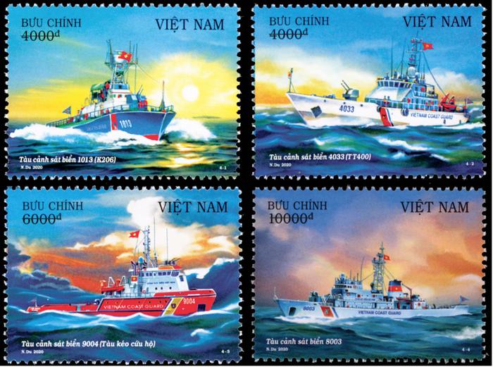"""Phát hành bộ tem về biển, đảo với chủ đề """"Tàu cảnh sát biển Việt Nam"""""""