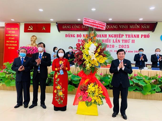 Đồng chí Lê Thị Hồng Hậu tái đắc cử Bí thư Đảng ủy Khối Doanh nghiệp TP Hồ Chí Minh