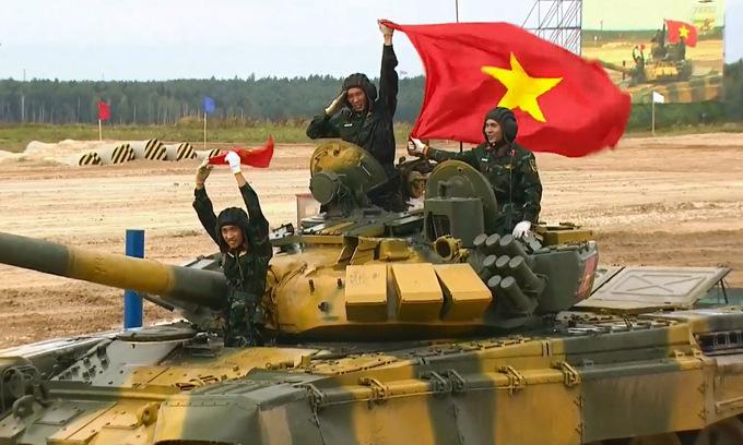 Đội tuyển xe tăng của Việt Nam vào bán kết Army Games 2020