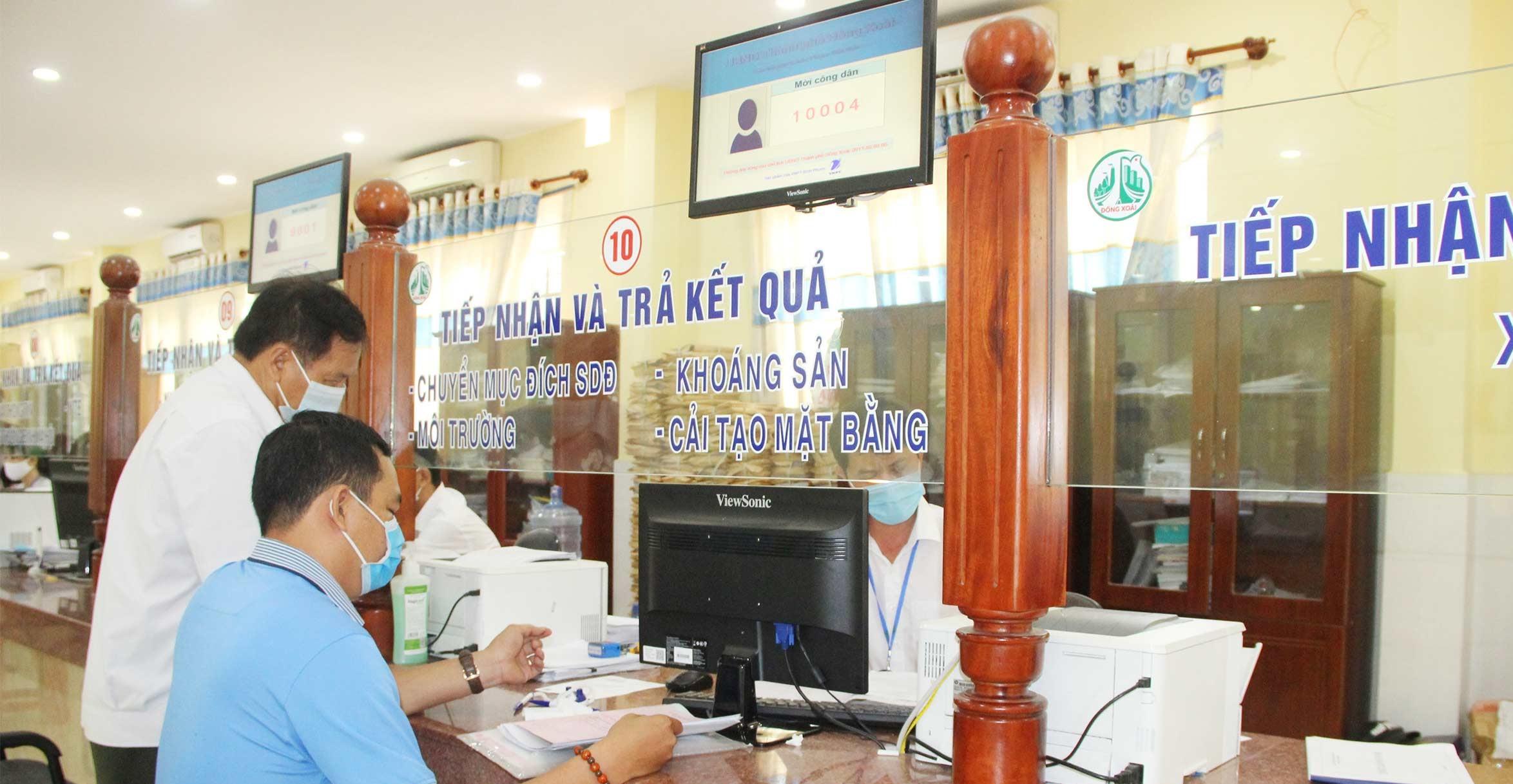 Ðồng Xoài Bình Phước đi đầu trong dịch vụ công trực tuyến