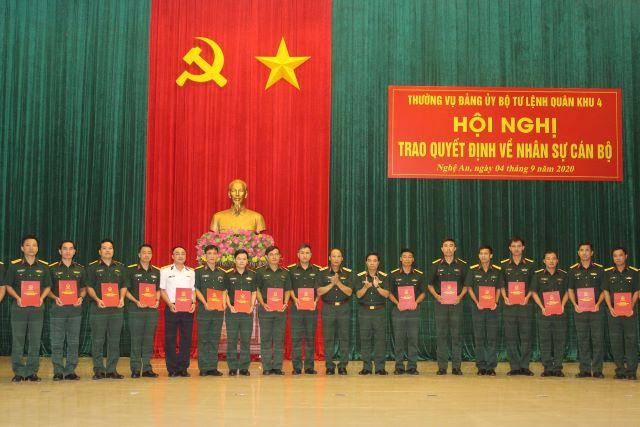 Quân khu 4 điều động, bổ nhiệm cán bộ cấp trung, sư đoàn