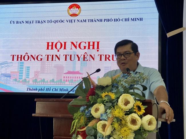 TP Hồ Chí Minh công bố biểu trưng 90 năm thành lập MTTQ Việt Nam