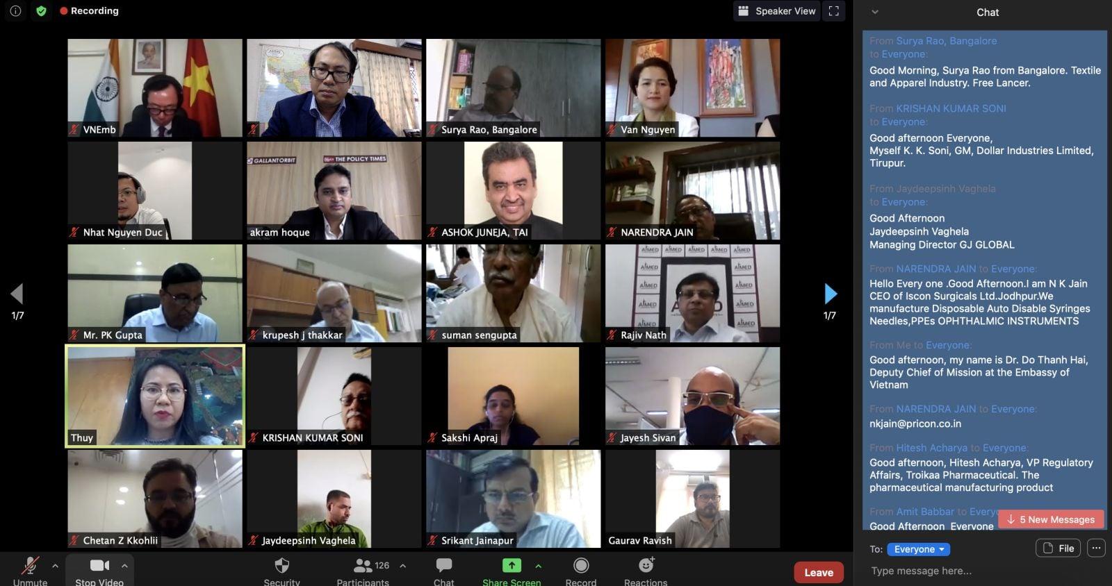 Thúc đẩy quan hệ doanh nghiệp Việt Nam - Ấn Độ