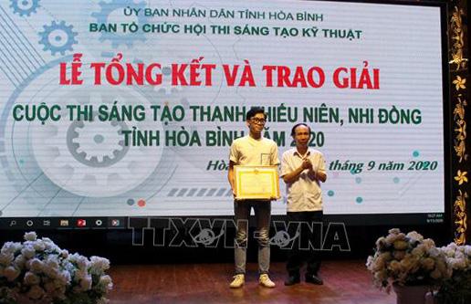 30 giải pháp đoạt giải Hội thi sáng tạo kỹ thuật tỉnh Hòa Bình