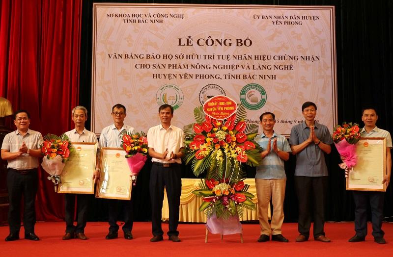 Bắc Ninh công bố bảo hộ sở hữu trí tuệ các sản phẩm nông nghiệp