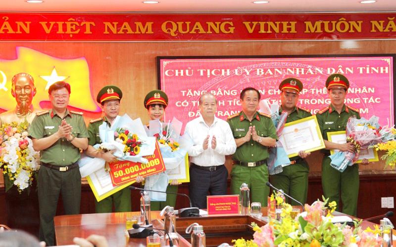 Thừa Thiên Huế khen thưởng Ban chuyên án 119D