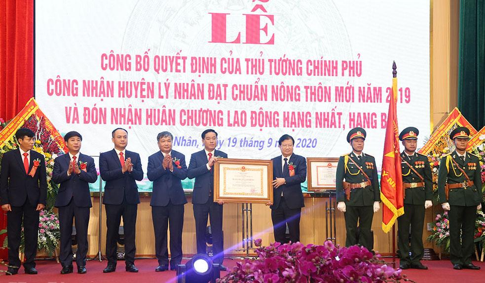 Huyện Lý Nhân tỉnh Hà Nam được công nhận huyện đạt chuẩn nông thôn mới