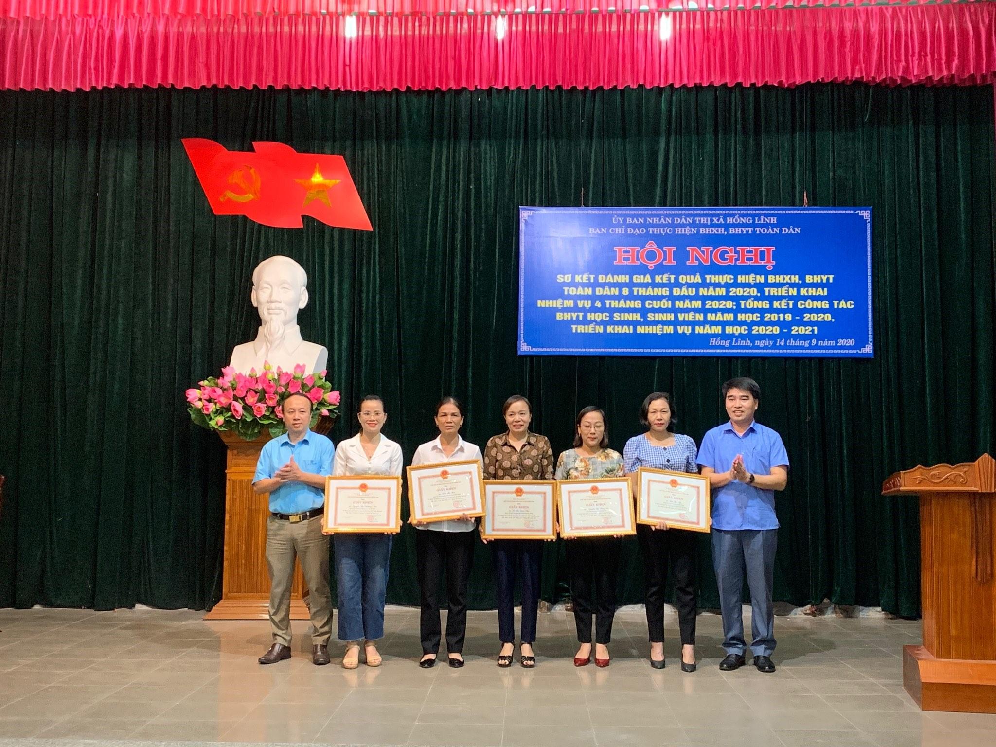 Thị xã Hồng Lĩnh Đảm bảo duy trì 100 học sinh, sinh viên tham gia BHYT